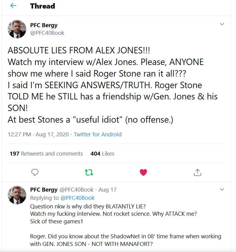 pfc-bergy-patrick-military-veteran-shadowgate-twitter-tweet-Alex-Jones-lied-liar-Roger-Stone-General-Jones3
