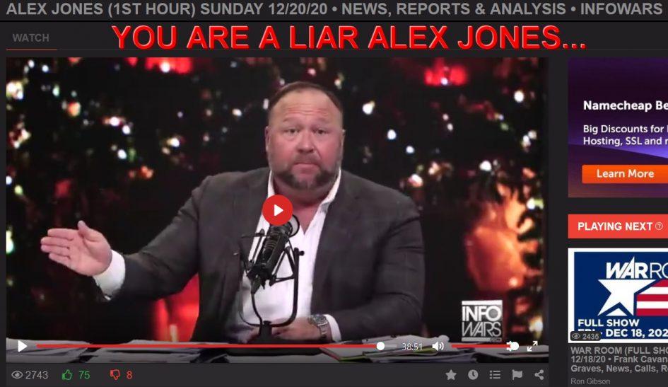 You are a liar Alex Jones traitor